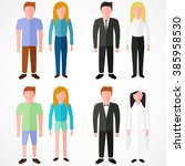 faceless normal family. boy and ... | Shutterstock .eps vector #385958530