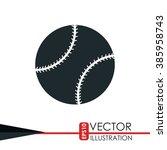 baseball icon design  | Shutterstock .eps vector #385958743