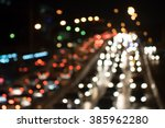 night city street lights... | Shutterstock . vector #385962280