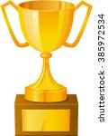 Gold Cup Trophy Vector...