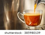 closed up of espresso machine... | Shutterstock . vector #385980139