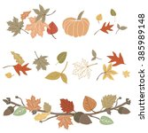 Fall Foliage. Hand Drawn Cute...