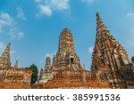 temple thailand temple wat... | Shutterstock . vector #385991536