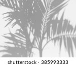 shadow of the leaves on a white ... | Shutterstock . vector #385993333