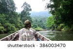 park ranger patrol along the... | Shutterstock . vector #386003470