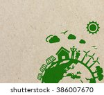 environmental green energy... | Shutterstock . vector #386007670