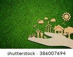 environmental green energy... | Shutterstock . vector #386007694