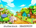 creative illustration and...   Shutterstock . vector #386009059