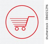 thin line shopping cart icon... | Shutterstock .eps vector #386021296