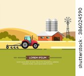 farming and agriculture... | Shutterstock .eps vector #386024590