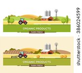 organic products. agriculture... | Shutterstock .eps vector #386024599