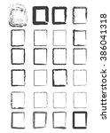 grunge border frames | Shutterstock .eps vector #386041318