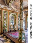 Small photo of Queluz, Portugal - September 16, 2015: Ambassador's Room (Sala dos Embaixadores) in the Queluz Palace, Portugal. Formerly used as the Summer residence by the Portuguese royal family.