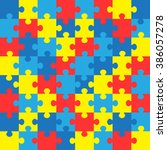 world autism awareness day.... | Shutterstock .eps vector #386057278