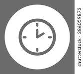 clock. vector icon grey and...