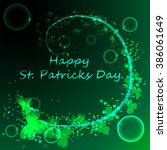 happy st.patrick s day green... | Shutterstock . vector #386061649