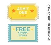 movie   theater tickets in... | Shutterstock .eps vector #386067460