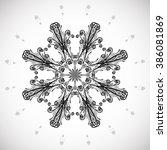 floral swirl. decorative swirl... | Shutterstock .eps vector #386081869