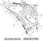render architecture building... | Shutterstock . vector #386081980