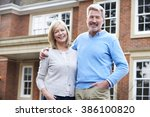 portrait of mature couple... | Shutterstock . vector #386100820