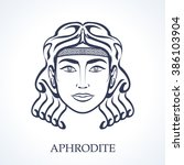 aphrodite  greek goddess | Shutterstock .eps vector #386103904