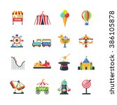 flat color isolated amusement... | Shutterstock . vector #386105878