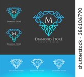 luxury diamond logo. simple and ... | Shutterstock .eps vector #386106790
