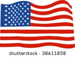 vector usa flag | Shutterstock .eps vector #38611858