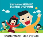enjoying happy asian family...   Shutterstock .eps vector #386141938