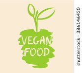 vegan food illustration. the... | Shutterstock . vector #386146420