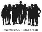 group of people vector... | Shutterstock .eps vector #386147158