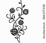 flower design elements vector | Shutterstock .eps vector #386157238