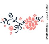 flower motif for design... | Shutterstock .eps vector #386157250