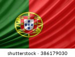 Waving Flag Of Portugal. Flag...
