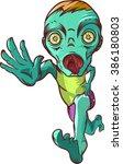 running zombie.    Shutterstock .eps vector #386180803