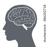 Vector Brain Silhouette...