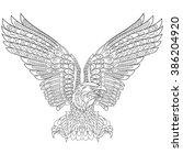 zentangle stylized cartoon...   Shutterstock .eps vector #386204920