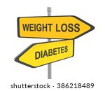 weight loss or diabetes road... | Shutterstock . vector #386218489