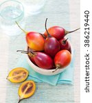 Tamarillo Fruits With Slice On...