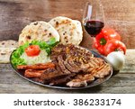 wholesome platter of mixed... | Shutterstock . vector #386233174