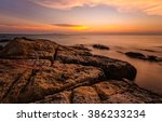 sunsets a the sea beach in... | Shutterstock . vector #386233234
