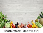 healthy eating background  ... | Shutterstock . vector #386241514
