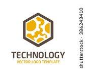 vector template logo gear. icon ... | Shutterstock .eps vector #386243410