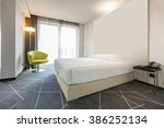interior of a double hotel... | Shutterstock . vector #386252134