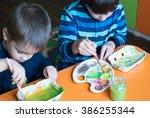Children's Creativity. Two Boy...