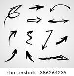 hand drawn arrows  vector set  | Shutterstock .eps vector #386264239