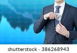 a businessman putting a one... | Shutterstock . vector #386268943