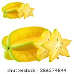 star fruit   carambola  .... | Shutterstock .eps vector #386274844