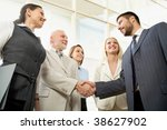 business people shaking hands... | Shutterstock . vector #38627902