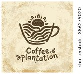 logo coffee plantations. the... | Shutterstock .eps vector #386279020